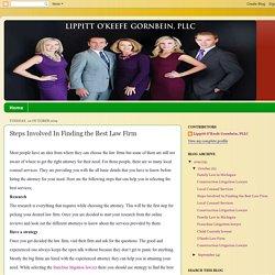 Lippitt O'Keefe Gornbein, PLLC: Steps Involved In Finding the Best Law Firm