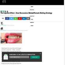 The Lipstick Effect - How Recessions Reveal Female Mating Strategy