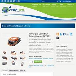 3kW Liquid-Cooled EV Battery Charger (72VDC)