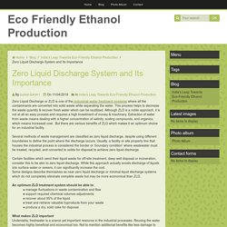Zero Liquid Discharge System and Its Importance