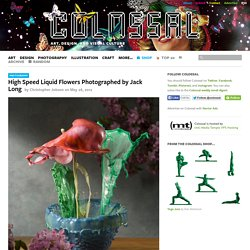 High Speed Liquid Flowers Photographed by Jack Long