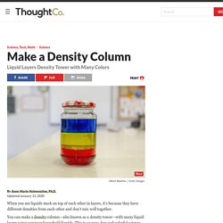 Make a Liquid Layers Density Column