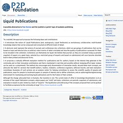 Liquid Publications