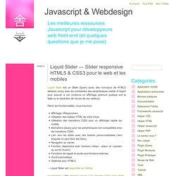 Liquid Slider — Slider responsive HTML5 & CSS3 pour le web et les mobiles