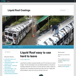 Liquid Roof easy to use hard to leave