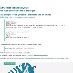 SVG CSS - How to embed svg for liquid layout or Rsponsive Web Design - Firefox - Chrome - Safari - IE9 - Opera