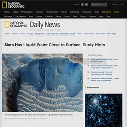 Mars Has Liquid Water Close to Surface, Study Hints