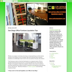 CA Office Liquidators: San Diego Office Furniture Liquidation Tips