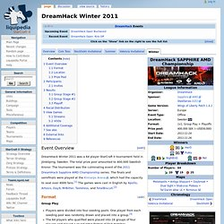 DreamHack Winter 2011 - Coverage