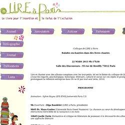 LIRE à Paris