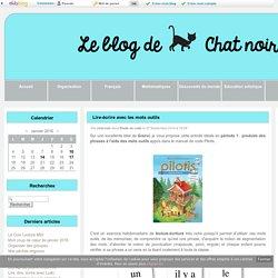 Lire-écrire avec les mots outils - Le blog de Chat noir