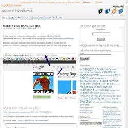 Lire googleplus dans les flux RSS
