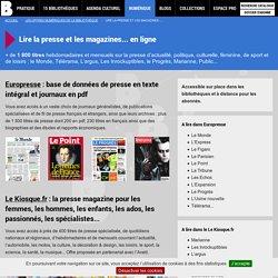 Lire la presse et les magazines... en ligne