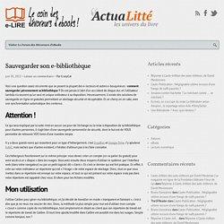 e-Lire – Sauvegarder son e-bibliothèque