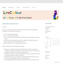 Lire Couleur, extension pour OpenOffice