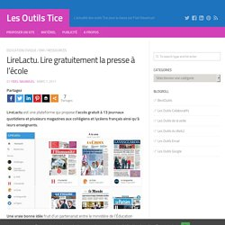 LireLactu. Lire gratuitement la presse à l'école