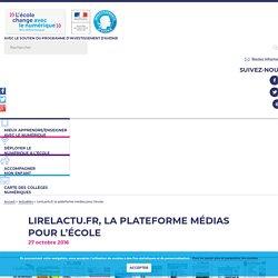 LireLactu.fr, la plateforme médias pour l'école - L'école change avec le numérique
