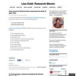Lisa Gold: Research Maven