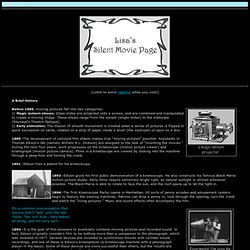 Lisa's Nostalgia Cafe - Lisa's Silent Movie Page