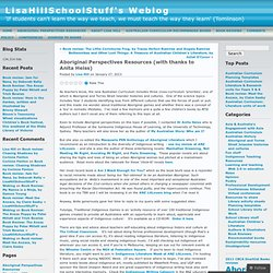 Aboriginal Perspectives Resources (with thanks to Anita Heiss) « LisaHillSchoolStuff's Weblog