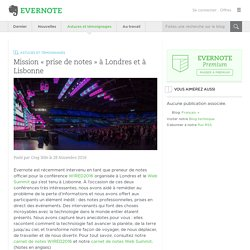Mission « prise de notes » à Londres et à Lisbonne - Evernote en français
