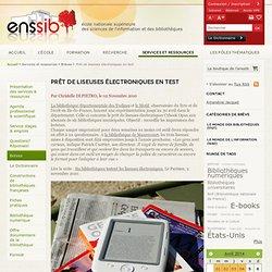 Prêt de liseuses électroniques en test