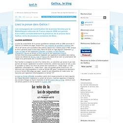 Lisez la presse dans Gallica !