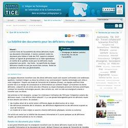 La lisibilité des documents pour les déficients visuels - L'Agence nationale des Usages des TICE