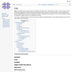 Lisp - /g/wiki