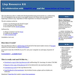 Lisp Resource Kit