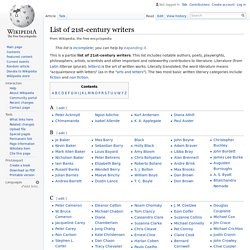 List of 21st-century writers