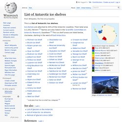 List of Antarctic ice shelves