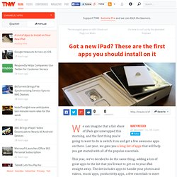 A List of Apps to Install on Your New iPad