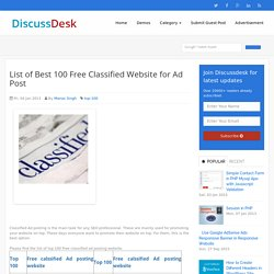 List of Best 100 Free Classified Website for Ad Post