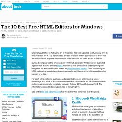 List of 10 Best Free HTML Web Editors for Windows
