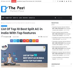 List Of Top 10 Best Split AC in India With Top features - The Post City