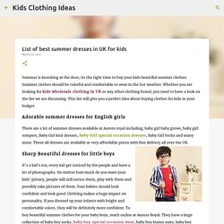 List of best summer dresses in UK for kids