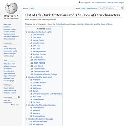 List of His Dark Materials and The Book of Dust characters