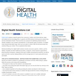 List of Digital Health Solutions