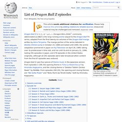 List of Dragon Ball Z episodes