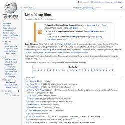 List of drug films