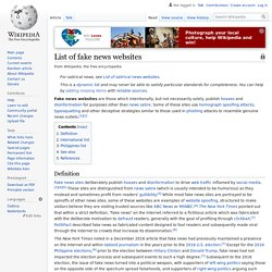 List of fake news websites - Wikipedia