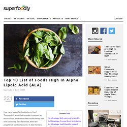 Top 10 List of Foods High In Alpha Lipoic Acid (ALA)