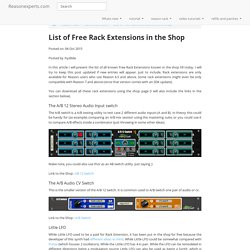 List of Free Rack Extensions in the Shop - Rack Extensions