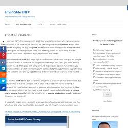 List of INFP Careers