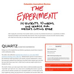 Our list of the best 11 journalism experiments