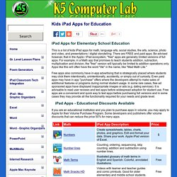 Big List - Kids iPad Apps for Education