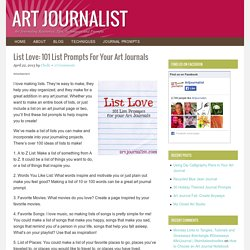 List Love: 101 List Prompts For Your Art Journals - Art Journalist