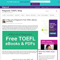 Big List of Magoosh's Free TOEFL eBooks and PDFs