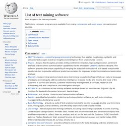 List of text mining software - Wikipedia